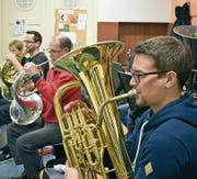 Der Musikverein Berneck probt fleissig fürs Frühlingskonzert. (Bild: pd)