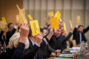 Nein sagte das Stadtparlament zum Kauf eines Gewerbegrundstücks im Gebiet Eichen. (Bild: Urs Bucher)