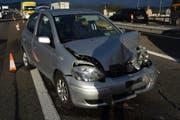 Einer der Unfallwagen. (Bild: Kapo SG)
