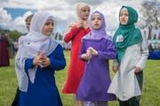 Mädchen im Primarschulalter tragen Kopftücher: Ein Bild, das Verena Gysling stört. (Bild: Benjamin Manser)