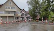 Die umfangreichen Sanierungsarbeiten an der Kreuzung beim Kloster Magdenau dürften sich bis nach den Sommerferien hinziehen. (Bild: Andrea Häusler)