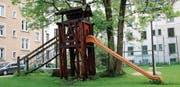 Das Wiesli im Museumsquartier wird unter anderem als Spielplatz genutzt. (Bild: Bettina Sieber (19. Mai 2017))