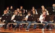 Die jungen Akkordeonisten im Einsatz. (Bild: Manuela Bruhin)