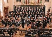 Dem Chorleiter Karl Hardegger gelang es, Orchester, Solisten und Chor zu einem Gesamtkunstwerk zusammenzuführen. (Bild: Max Pflüger)