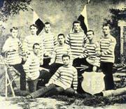Der FC St.Gallen auf einem Mannschaftsfoto von 1881. (Bild: pd)