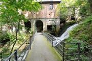 Wie lange der Mülenen-Schluchtweg gesperrt bleibt, können die Verantwortlichen der Stadt St.Gallen noch nicht sagen. (Bild: HANSPETER SCHIESS)