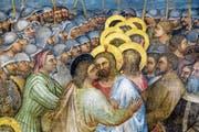Der berühmte Judaskuss auf einer Freske des italienischen Malers Giusto de' Menabuoi (1320–1390) in Padua. (Bild: AKG)