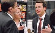 Im Gespräch: (v.l.) Peter Kaiser, Simone Zimmermann und Guido Stadler.