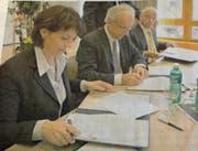 Unterschrift von Bundesrätin Doris Leuthard als Basis für die Zusammenarbeit. (Bild: PD)