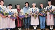 Die Präsidentinnen der letzten 50 Jahre. (Bilder: Heidy Beyeler)