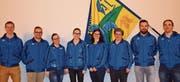 Die Vorstandsmitglieder Remo Baumann, Fabian Mauerhofer, Nicole Koller, Olivia Wälle, Olivia Heer, Renata Mettler, Patrick Schrepfer sowie Valentin Koller (von links). (Bild: PD)