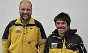 Beat Oehler (links) folgt auf Peter Diener, zuerst als Rettungsspezialist Helikopter, nun auch als Rettungschef der Alpinen Rettung Wildhaus-Amden. (Bild: Sabine Schmid)