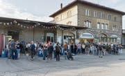 Das Lattich-Quartier wächst weiter. Der Verein Lattich hat zum Ziel, das Güterbahnhof-Areal zu beleben. (Bild: Samuel Schalch (19. August 2016))