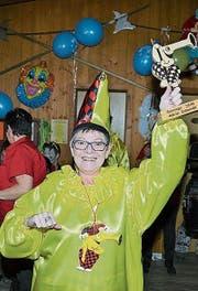 Astrid Schmidli im gelben Fasnachtsgewand der Schnoderguge. (Bild: PD)