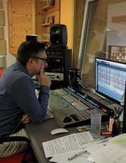 Michi Jud realisierte mit seinem eigenen Tonstudio in Mosnang einen lang gehegten Wunsch. (Bild: Fränzi Göggel)
