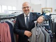 «Die Zeit zur Entwicklung von Innovationen wird immer kürzer»: Der Textilindustrielle Andreas Sallmann. (Bild: Ralph Ribi (Amriswil, 19. Juni 2017))