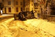 Das Auto musste nach dem Unfall abgeschleppt werden. (Bild: stapo)