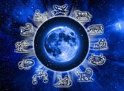 zodiac symbols and Moon (Bild: Fotolia)