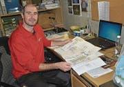 In sein Büro «unter Tage» geht René Frick während der Olma fast nur, um Informationen zu holen.