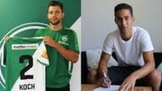 Spielen künftig in grün-weiss: Philippe Koch (links) und Nassim Ben Kalifa. (Bild: pd)