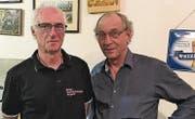 Kurt Künzler und Guido Keel sind zusammen seit 80 Jahren beim Skiclub Grünenstein. (Bild: pd)