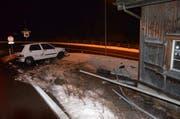 Der Lenker blieb unverletzt - es entstand Sachschaden. (Bild: Kapo AR)