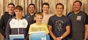 An der HV des RCOG (von links): Andreas Vetsch, Dominik Laritz, Mike Rüegg (sportlicher Leiter), Janis Steiger, Flavio Freuler, Nicolas Steiger und Daniel Steiger (Präsident). (Bild: pd)