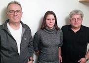 Der Vorstand des MC Altstätten (v. l.); Jörg Lüchinger (neuer Kassier), Michele Baumann (neue Präsidentin) und Armin Ritz (Aktuar). (Bild: pd)