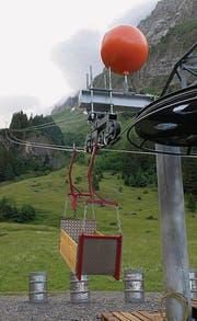 Die Talstation der Transportbahn auf den Rotsteinpass steht in der Thurwis oberhalb Unterwasser. (Bild: Christiana Sutter)