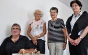 Sie freuen sich auf die gemeinsame Ausstellung: Paul Manser, Heidi Sutter, Doris Gröble und Ruth Bräker (von links). (Bild: Kathrin Meier-Gross)