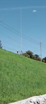 Beim Bahnhof Lichtensteig ist ein Antennenmast geplant. (Bild: Martin Knoepfel)