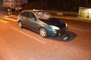 Der Autofahrer übersah einen Fussgänger. (Bild: Kapo SG)