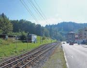 In Teufen wird derzeit wieder einmal über die Ortsdurchfahrt der Appenzeller Bahnen diskutiert. Eine neue Vision ist ein Tunnel, dessen nördliches Ende in die Liebegg im Riethüsli (Bild) zu liegen kommen soll. (Bild: Patrik Kobler)