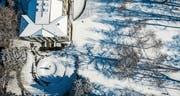 Ein Hauch von Winter im Stadtpark (Bild: Hanspeter Schiess)