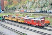 Der Modellbahn-Betrieb wird auf drei verschiedenen Anlagen gezeigt. (Bild: pd)
