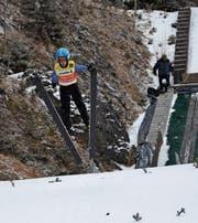 Lars Künzle springt auf beiden Schanzen überlegen. (Bild: PD)