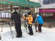 Am Ende des Skitags werden in Südkorea die Ski mit einem Luftbläser getrocknet. (Bild: PD)