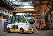 Der autonom fahrende Bus Trapizio verfügt über elf Sitze. (Bild: Trapeze Switzerland)