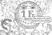 Im «Frankenschock» vom 15. Januar 2015 legte der Franken gegenüber dem Euro schlagartig an Wert zu, weil die Nationalbank den Kurs von 1,20 Franken/Euro nicht mehr verteidigte. (Bild: Anina Rütsche (22. Januar 2015))