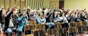 78 Stimmberechtigte aus Eichenwies, Kriessern, Montlingen und Oberriet nahmen an der Schulbürgerversammlung teil. So wenige wie selten. (Bild: Max Tinner)