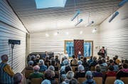Ohne Firlefanz: Der Musiksaal der diözesanen Kirchenmusikschule am Gallusplatz. (Bild: Michel Canonica (17. Januar 2016))