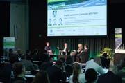 Interessierte Zuhörerschaft am 7. St. Galler Forum für Management Erneuerbarer Energien, das Teil der Energie-Tage St. Gallen ist. (Bild: Stürmer Fotos)
