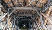 Gutes Bauen Ostschweiz: Letzte Rheinholzbrücke als Verbindung Sevelen - Vaduz. (Bild: Hanspeter Schiess)
