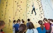 Deutlich mehr Besucher sind diesen Frühling in die Wände der Kletterhalle St. Gallen gestiegen als noch im vergangenen Frühjahr. (Archivbild: Urs Jaudas)