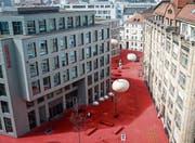 Der Hauptsitz von Raiffeisen Schweiz am Roten Platz in St. Gallen. (Bild: Benjamin Manser)
