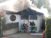 Rauch bei der Trafostation in Bischofszell. (Bild: Kapo TG)