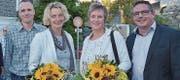 Die vier neuen Mitglieder: Lukas Lendenmann, Helen Zehnder, Madeleine Gmür und Roman Taiani (von links). (Bild: Zita Meienhofer)