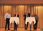 Sprachen gemeinsam über die Hotellerie (von links): Christian Laesser, Claudia Oberhofer, Michael Müller und Rolf Züllig. (Bild: Sabine Schmid)