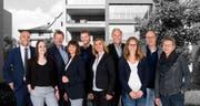 Das Team der Staub Immobilien Treuhand AG (von links): Carlo Staub, Selina Frei, Hermann Zillig, Cornelia Wehrli, René Hasler, Ana Perolini, Richard Ehrat, Céline Schmid, Charles Staub und Doris Handschin. (Bild: PD)
