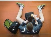 Am Swibro-Cup im Athletik Zentrum St. Gallen zeigt Michal Kubat (oben rechts) ein starkes Comeback und holt sich den dritten Platz. (Bilder: Benjamin Manser)